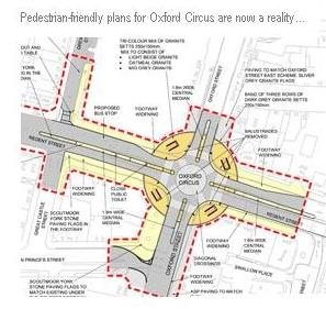 Oxford Circus Goes Naked With X Shaped Crossing Eta