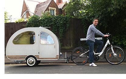 Bicycle motorhome' designer on show in London | ETA