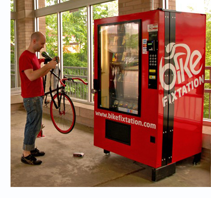 The Bicycle Repair Vending Machine Open 365 Days A Year Eta