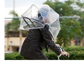 New Bicycle Umbrella You Wear On Your Head Eta